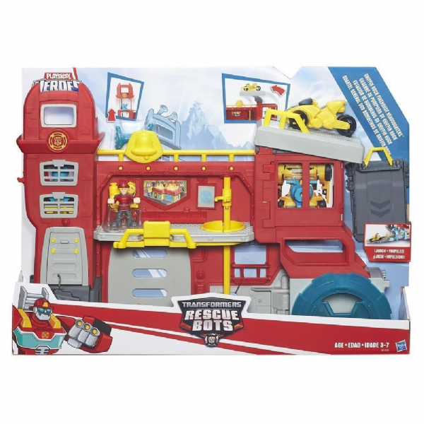 Playskool Heroes Transformers Griffin Rock Firehouse Headquarters